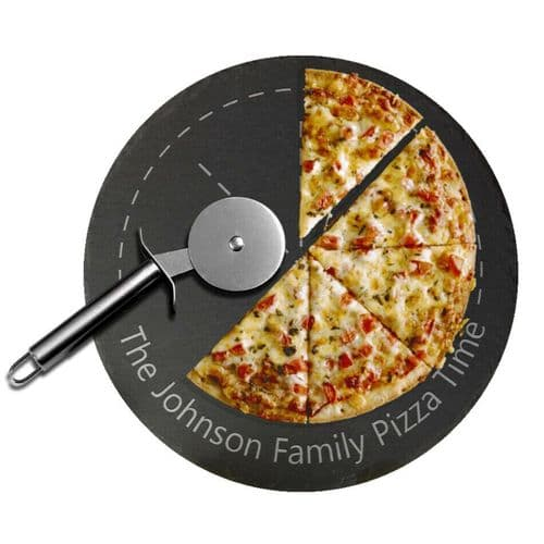 Family Pizza Serving Slate Board Personalised