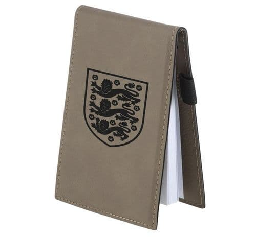 Faux Leather Notebook Pad With Pen Holder Personalised
