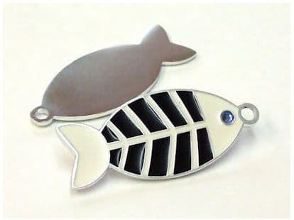 Fish with Crystal Design