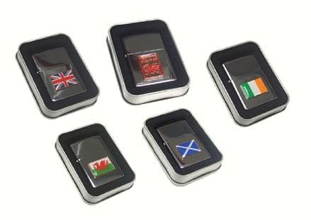 Flag Design Petrol Lighter Personalised