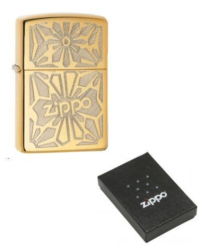 Floral Pattern with Zippo Logo Zippo Lighter