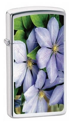 Flowers Zippo Lighter Personalised