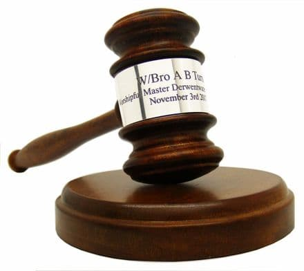 Gavel And Sound Block Personalised