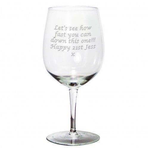 Giant Wine Glass Personalised