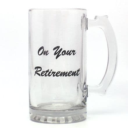 Glass Retirement Tankard Personalised