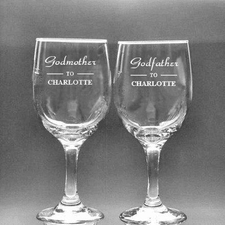 Godmother or Godfather  Wine Glass Personalised