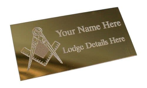 Gold Masonic (G) Plaque Personalised | County Engraving