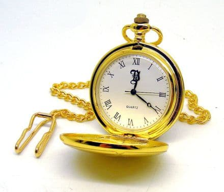 Gold Plated Pocket Watch Personalised