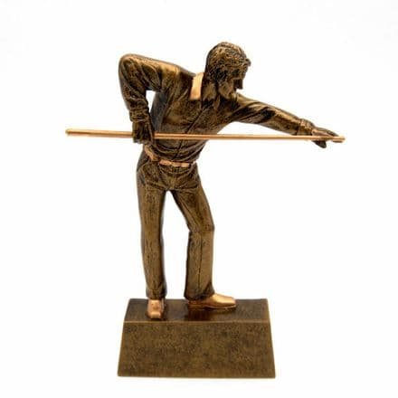 Gold Resin Pool/Snooker Player Trophy Personalised