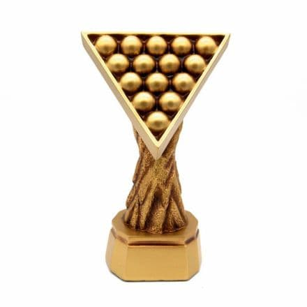Gold Resin Pool Snooker Triangle Trophy Personalised