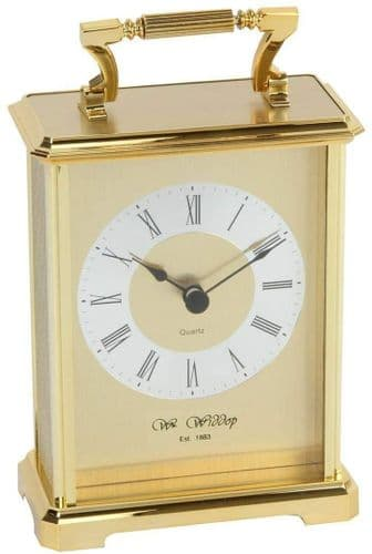 Gold/Silver Faced Carriage Clock Personalised