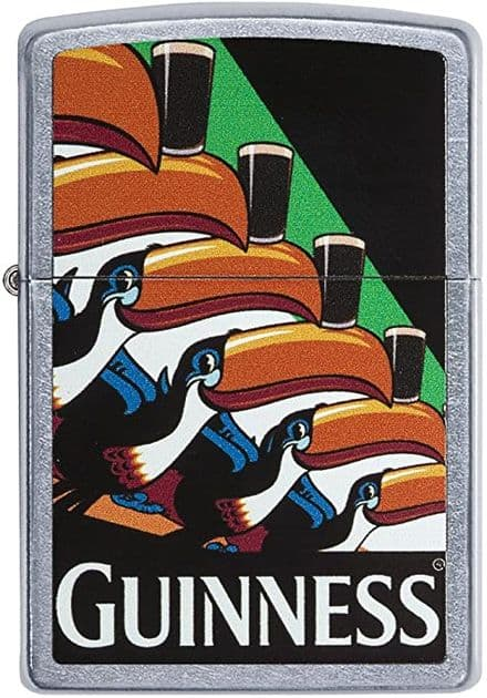 Guinness Coloured Toucans Zippo Lighter Personalised