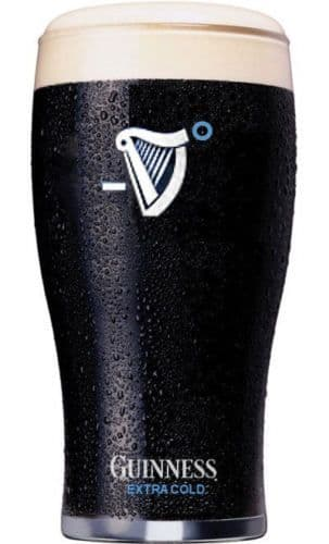 Guinness Draught Extra Cold 1 Pint Glass Personalised