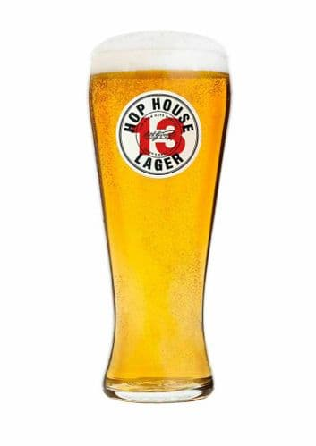 Guinness Hop House 13 Lager Pint Glass Personalised