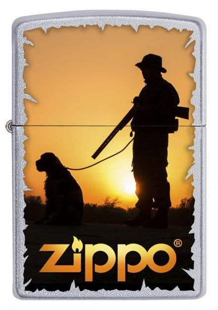 Hunter and Dog Zippo Lighter Personalised
