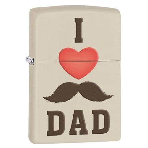 I Love Dad Zippo Lighter Personalised