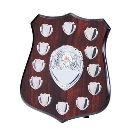 Illustrious 12 Year Annual Wooden Shield