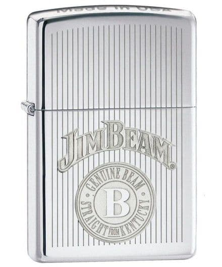 Jim Beam Crown Stamp Zippo Lighter Personalised