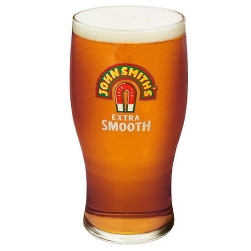 John Smiths Extra Smooth Beer Glass Personalised