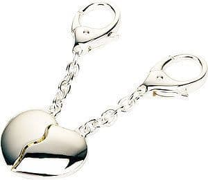 Joining Hearts Key Rings Personalised