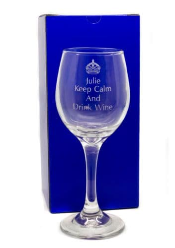 Keep Calm and Drink Wine Personalised