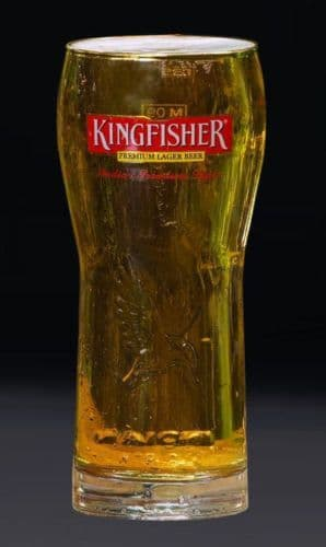 Kingfisher Lager Glass Personalised