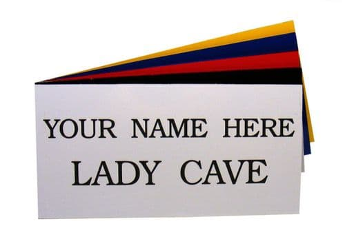 Lady Cave Garden Shed Sign Personalised
