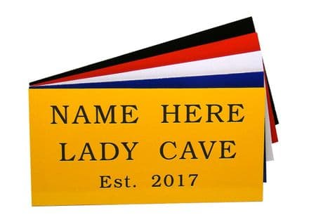 Lady Cave Garden Shed Sign  With Name & Est Date Personalised