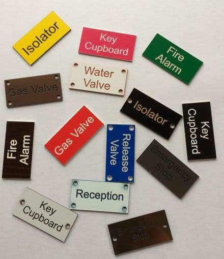 Laminate Valve Labels/Tags (150mm)