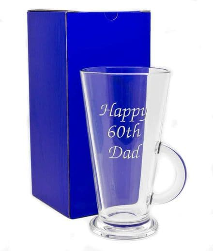 Large Latte Glass Personalised