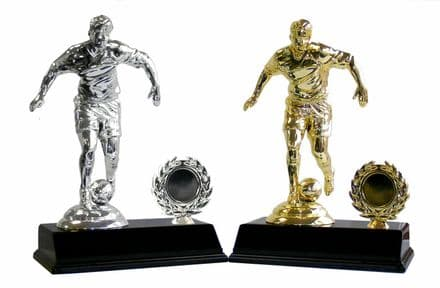 Large Silver or Gold Football Player Trophy
