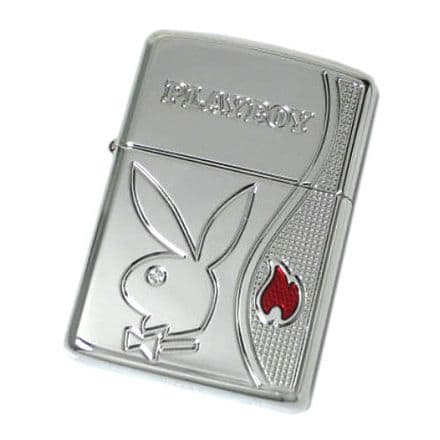 Limited Edition Heavy Wall Armor Chrome Playboy Zippo Flame Lighter