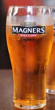 Magners Cider Pint Glass Personalised