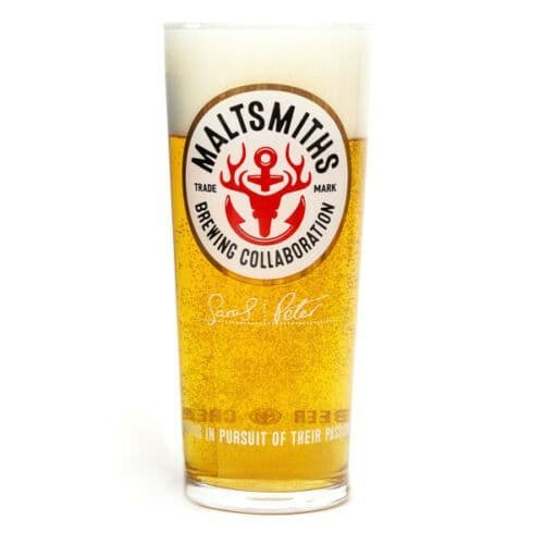 Maltsmiths Pilsner Style Craft Pint Glass Personalised