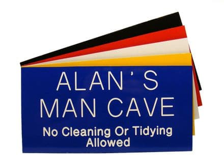 Man Cave Garden Shed Sign 200 x 100mm Personalised