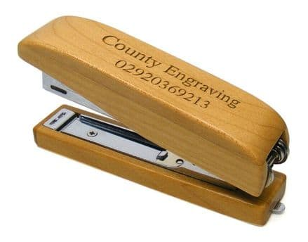 Maple Wood Office Stapler Personalised