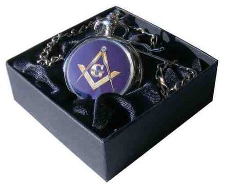 Masonic G Compass and Square Pocket Watch Personalised