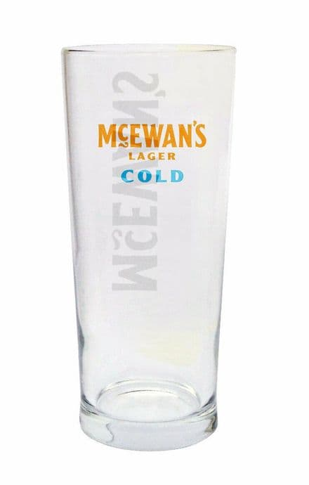 McEwan's Cold Lager Pint Glass  Personalised