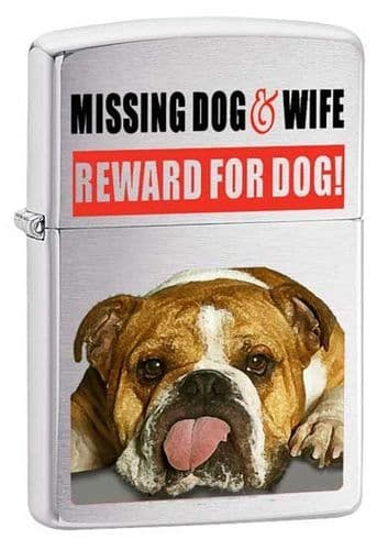 Missing Dog and Wife Lighter Personalised