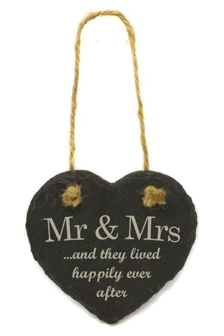 Mr and Mrs Hanging Slate Heart