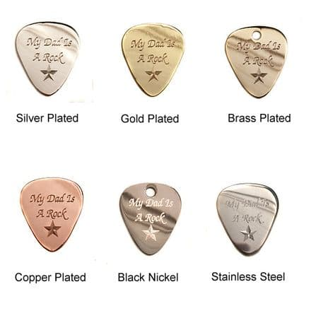 My Dad is a Rock Star Guitar Plectrums Personalised