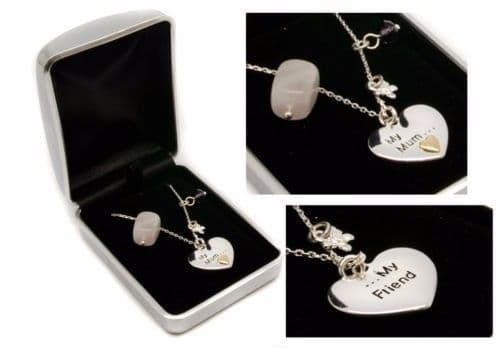 My Mum, My Friend Silver Plated Necklace Personalised