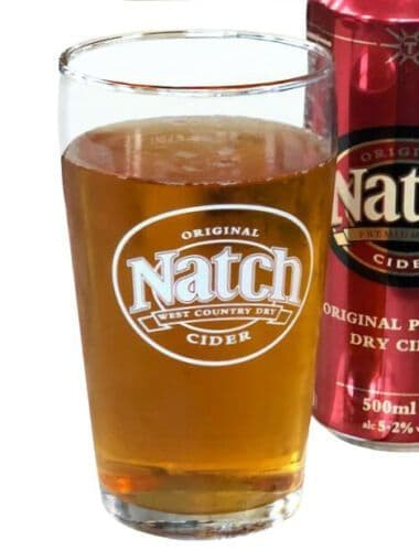 Natch Cider One Pint Glass Personalised