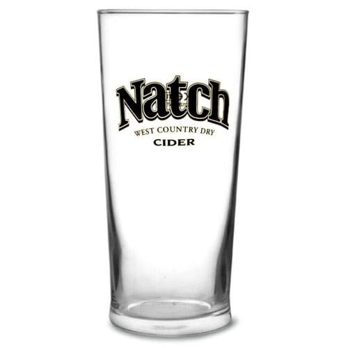 Natch Cider Pint Glass Personalised  | County Engraving