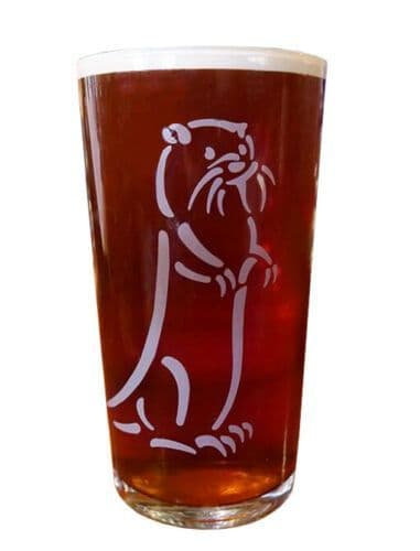 Otter Brewery 1 Pint Glass Personalised | County Engraving