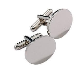 Oval Cufflinks, Silver and Gold Plated Personalised