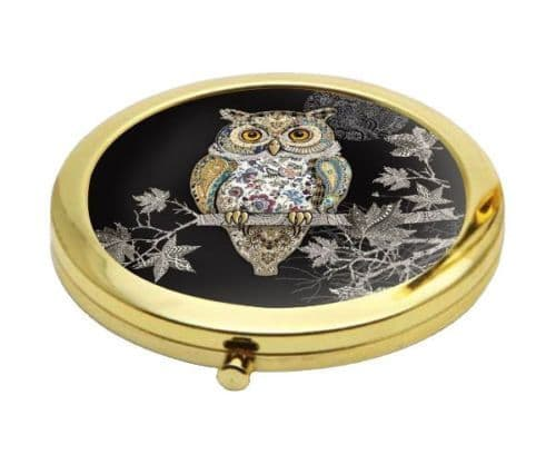 Owl Design Compact Mirror Personalised