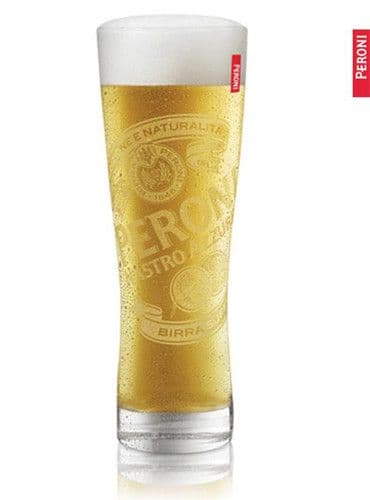 Peroni Italian Lager Glass Personalised