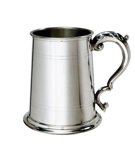 Pewter Double Lined Tankard with Georgian Handle Personalised