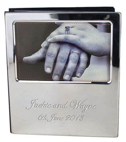 Photo Album Silver Plated Personalised
